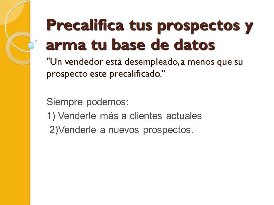 Precalifica tus prospectos y arma tu base de datos
