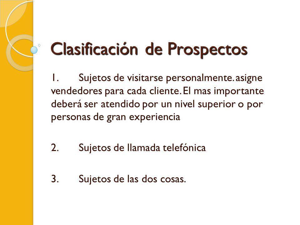 Clasificación de Prospectos