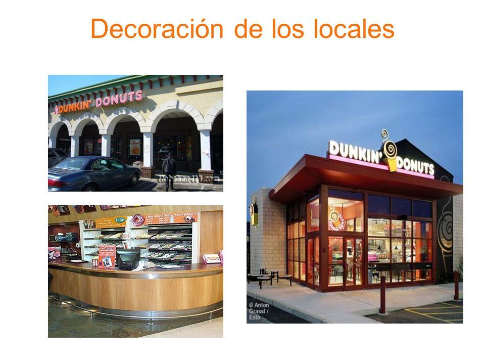 Decoración de los locales