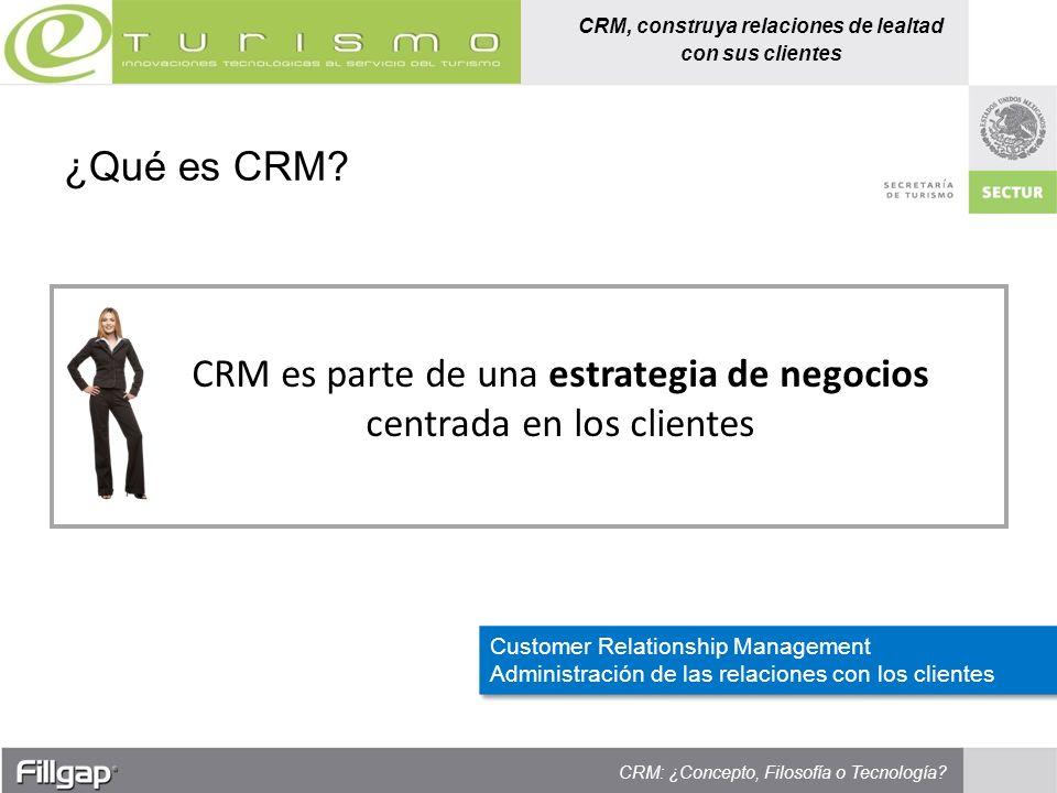 CRM es parte de una estrategia de negocios centrada en los clientes