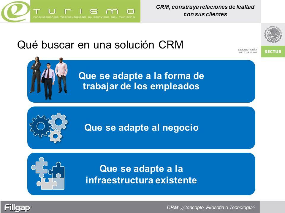 Qué buscar en una solución CRM