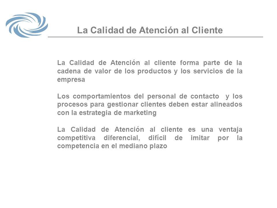 La Calidad de Atención al Cliente