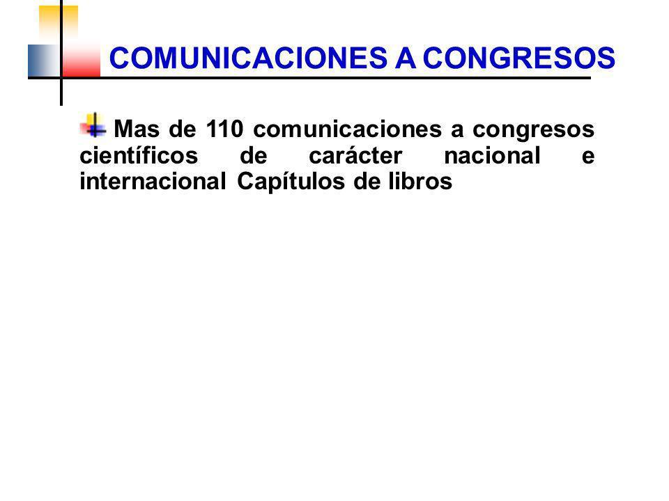 COMUNICACIONES A CONGRESOS