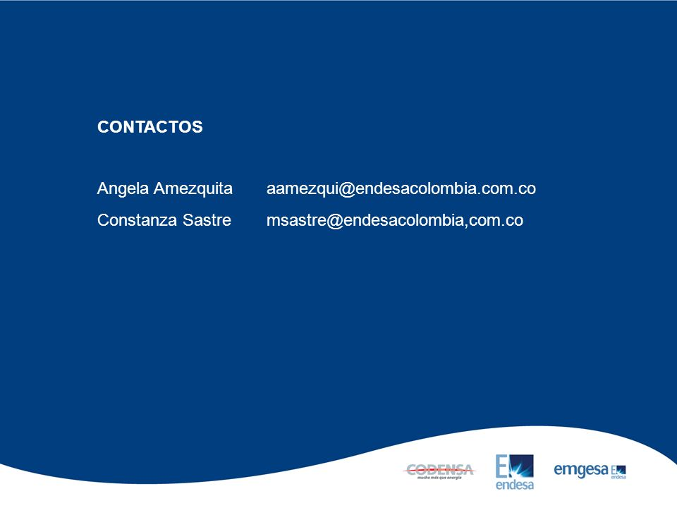 CONTACTOS Angela Amezquita aamezqui@endesacolombia.com.co.