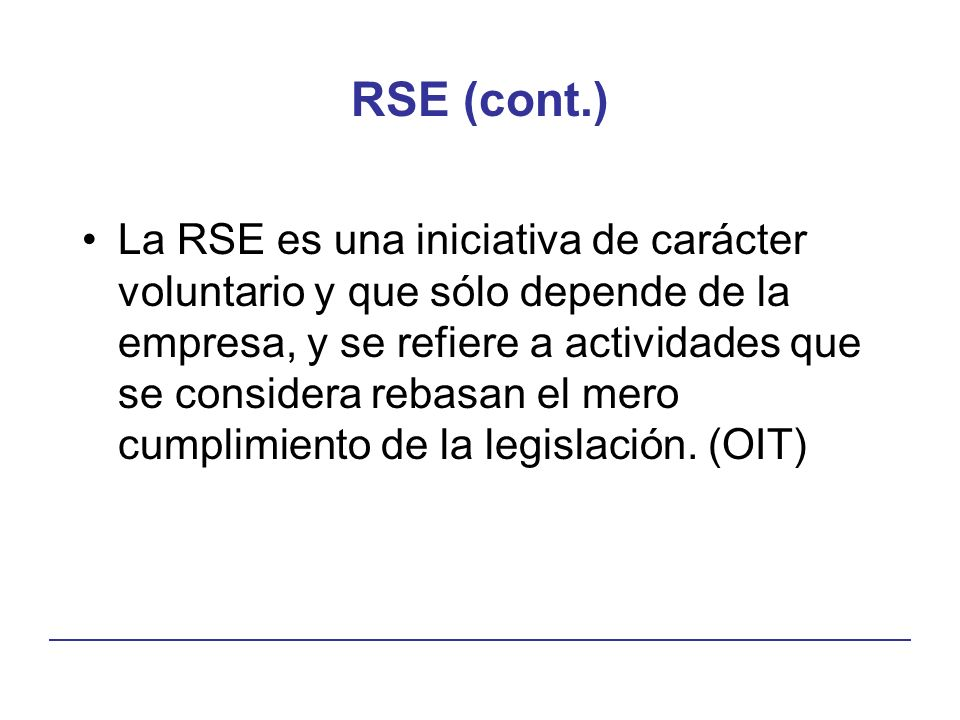 RSE (cont.)