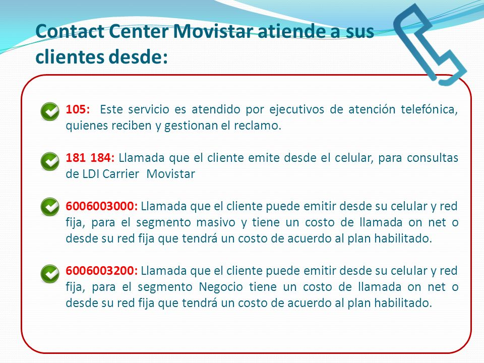 Contact Center Movistar atiende a sus clientes desde: