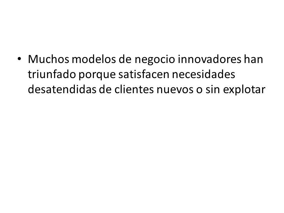 Muchos modelos de negocio innovadores han triunfado porque satisfacen necesidades desatendidas de clientes nuevos o sin explotar