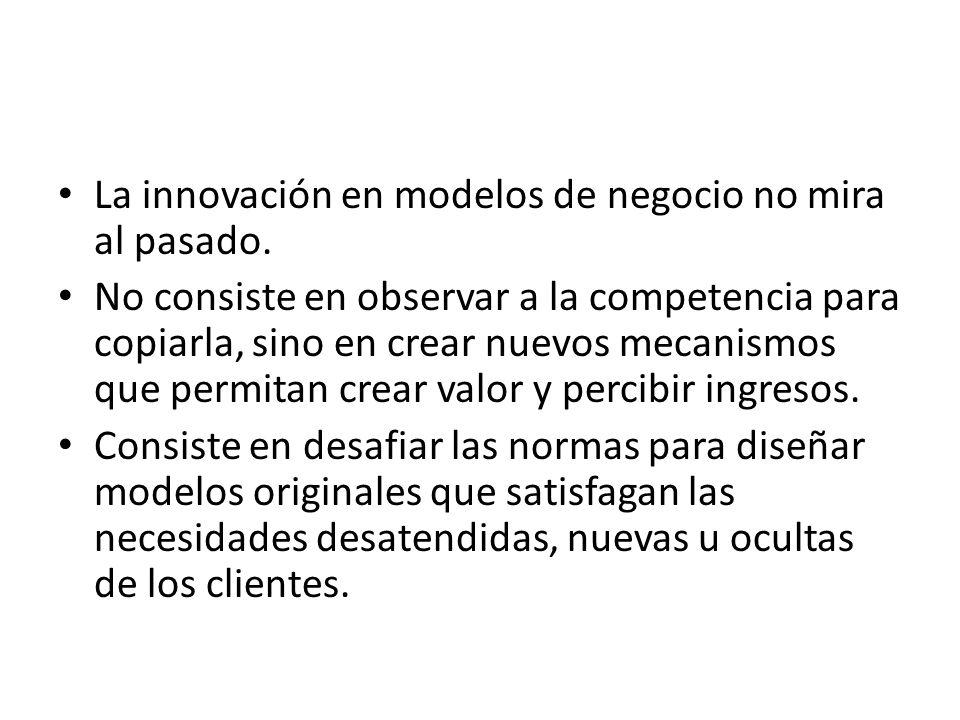 La innovación en modelos de negocio no mira al pasado.