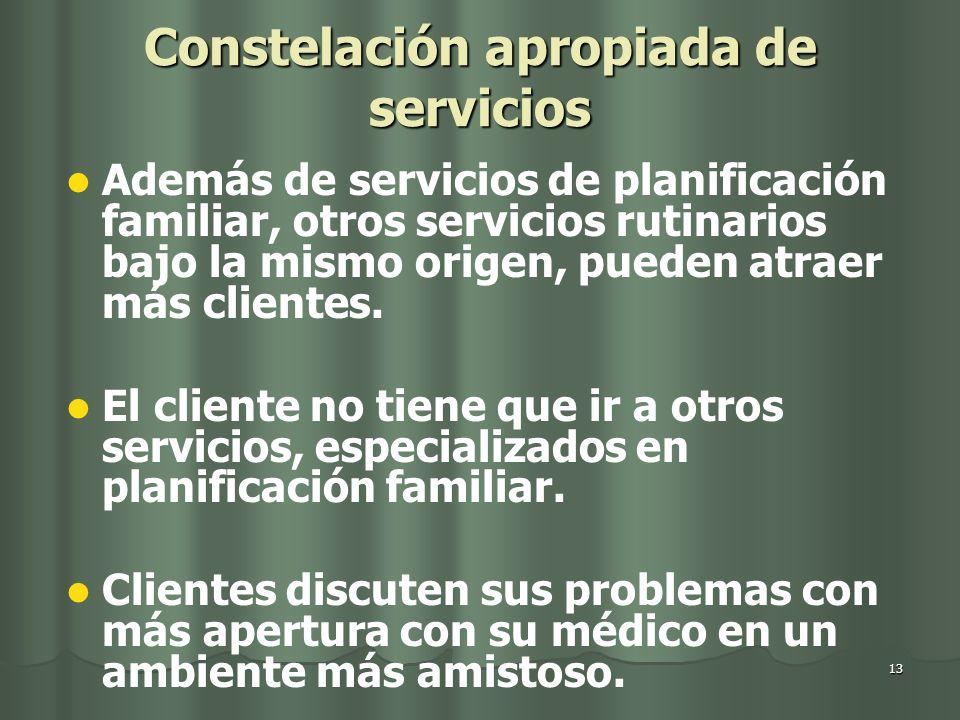 Constelación apropiada de servicios