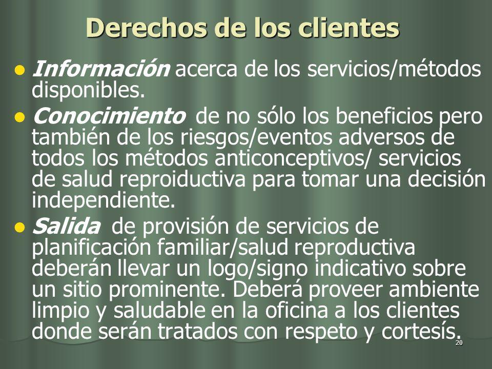 Derechos de los clientes