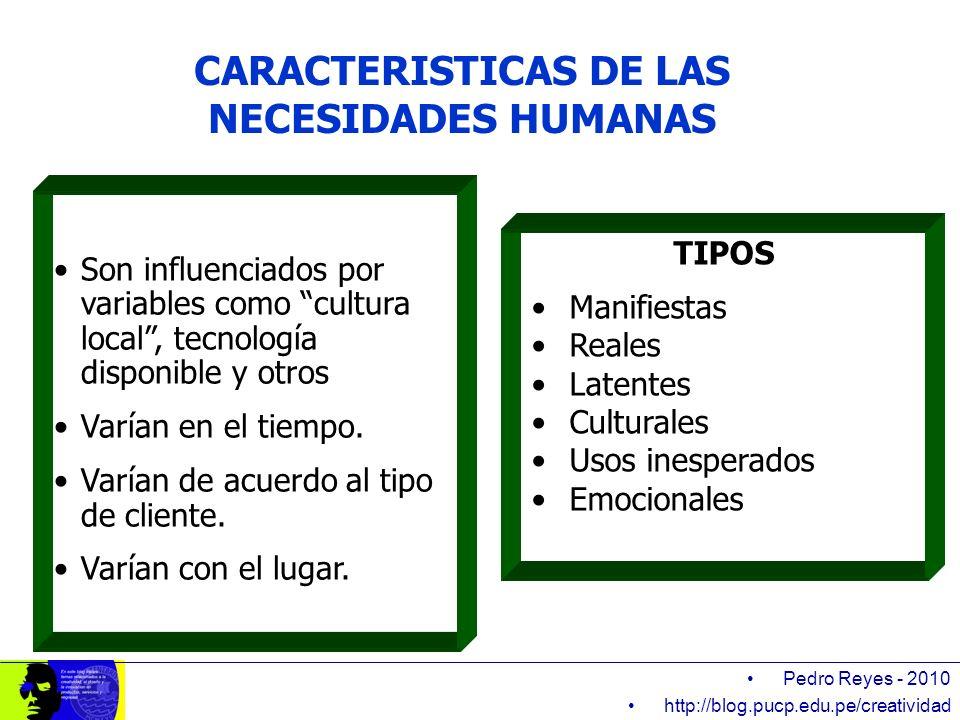 CARACTERISTICAS DE LAS NECESIDADES HUMANAS