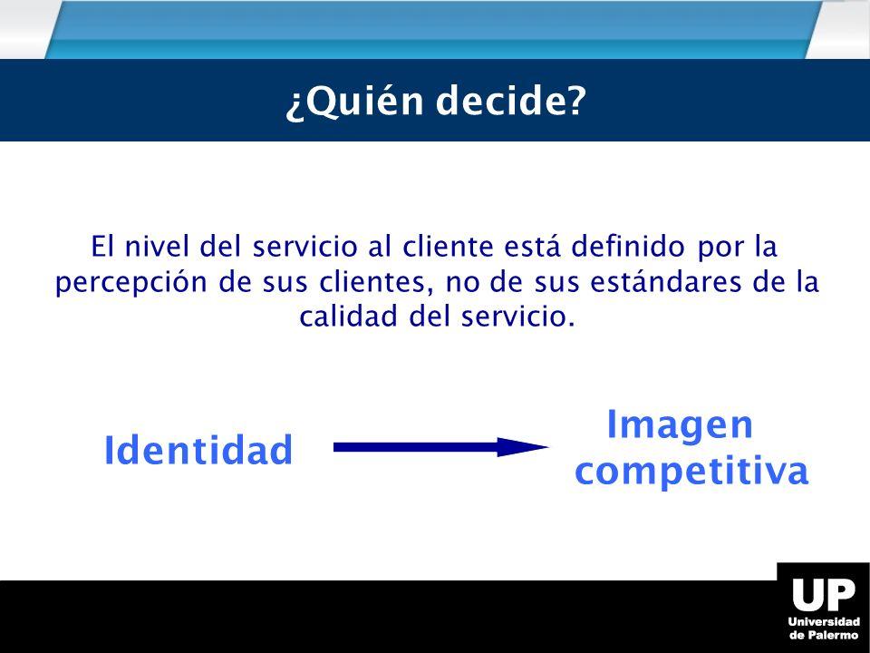 ¿Quién decide ¿Quién decide Identidad competitiva Imagen