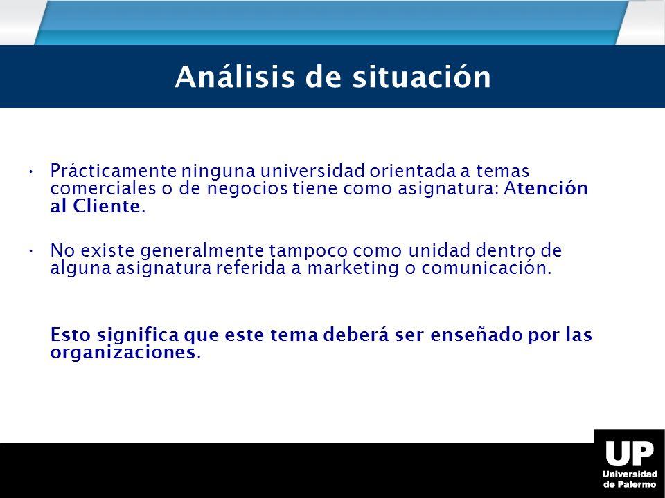 Análisis de Situación Análisis de situación