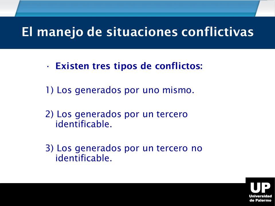 El manejo de situaciones conflictivas