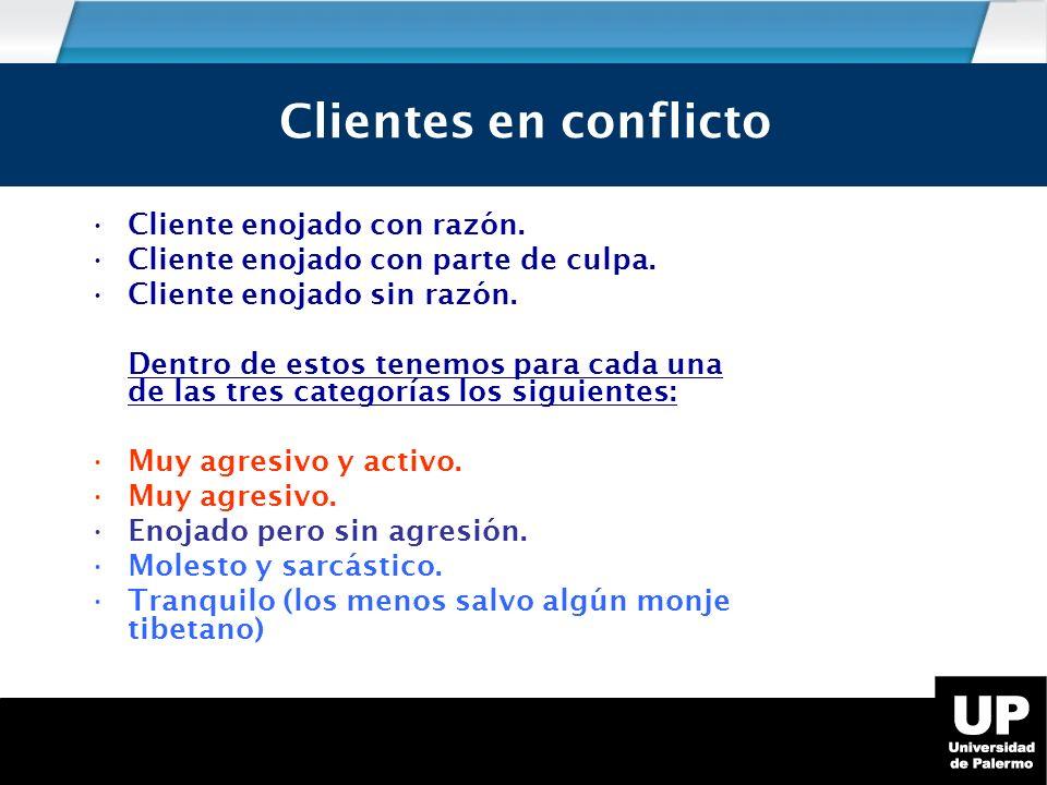 Los tipos de cliente en conflicto