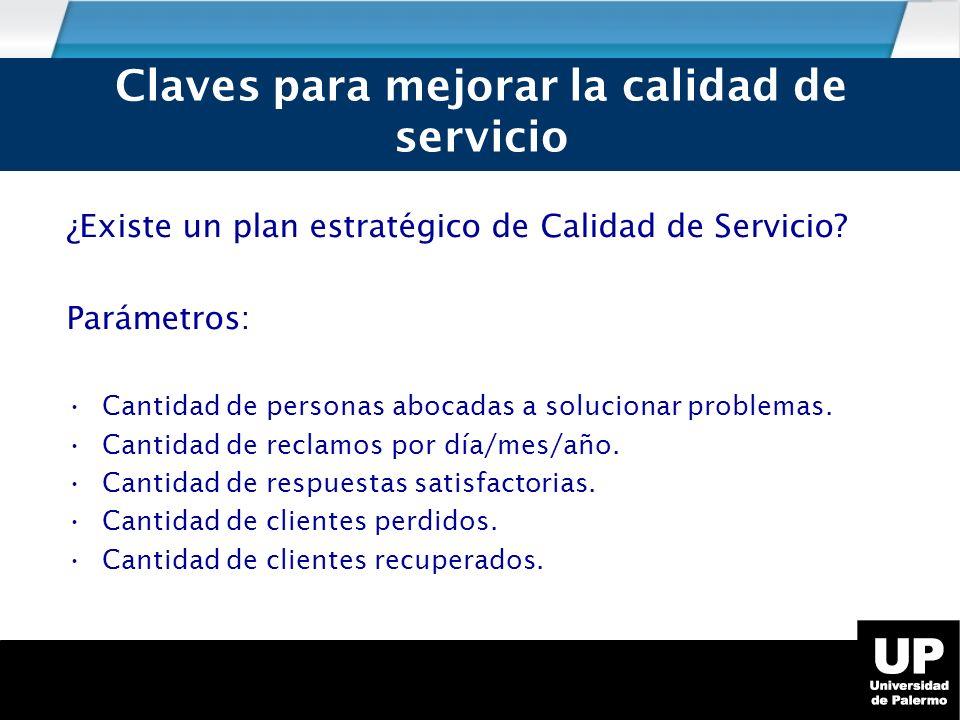 Claves para mejorar la calidad de servicio