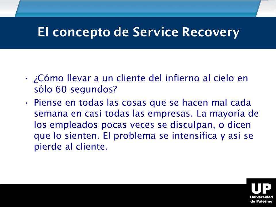 El concepto de Service Recovery