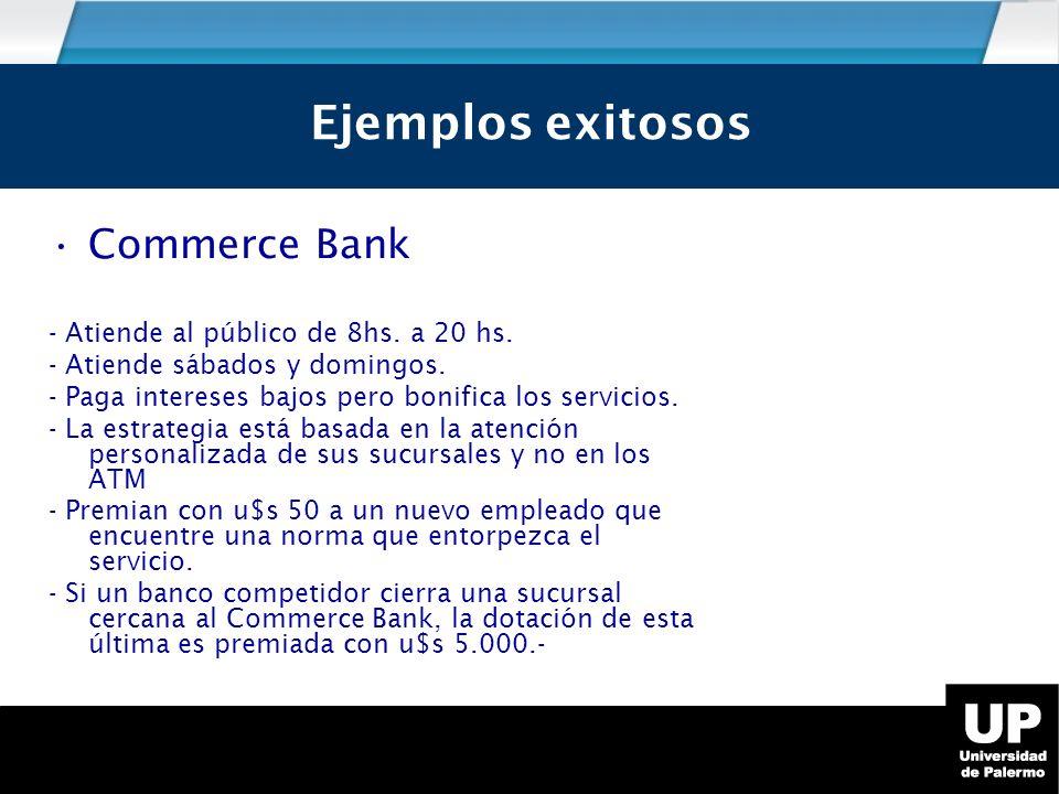 Ejemplos exitosos Ejemplos exitosos Commerce Bank