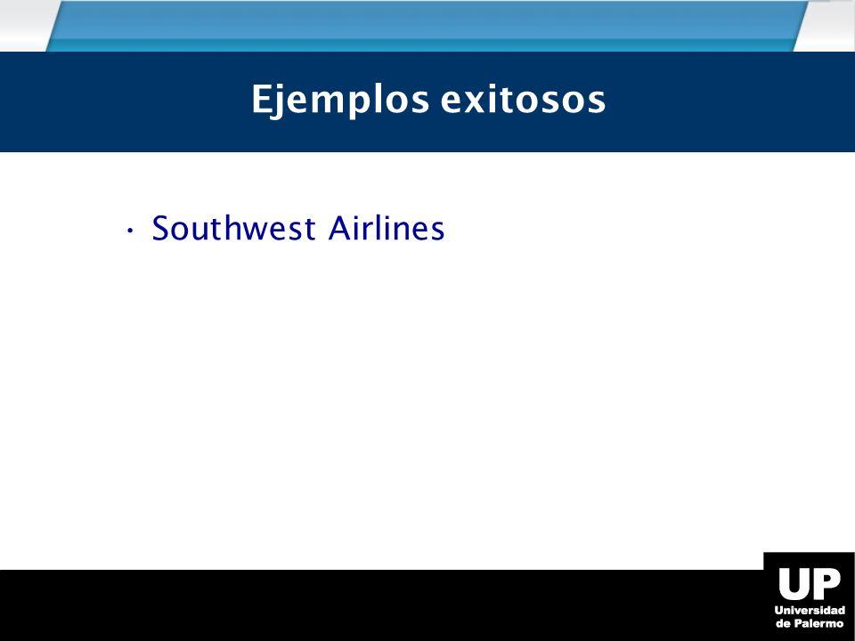 Ejemplos exitosos Ejemplos exitosos Southwest Airlines