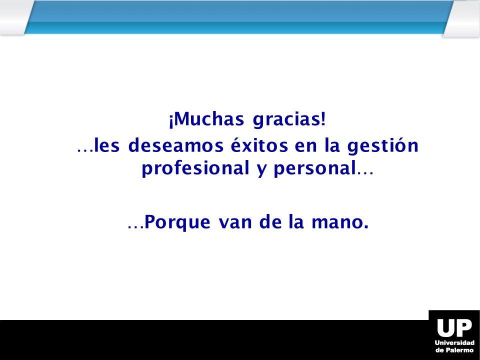 …les deseamos éxitos en la gestión profesional y personal…