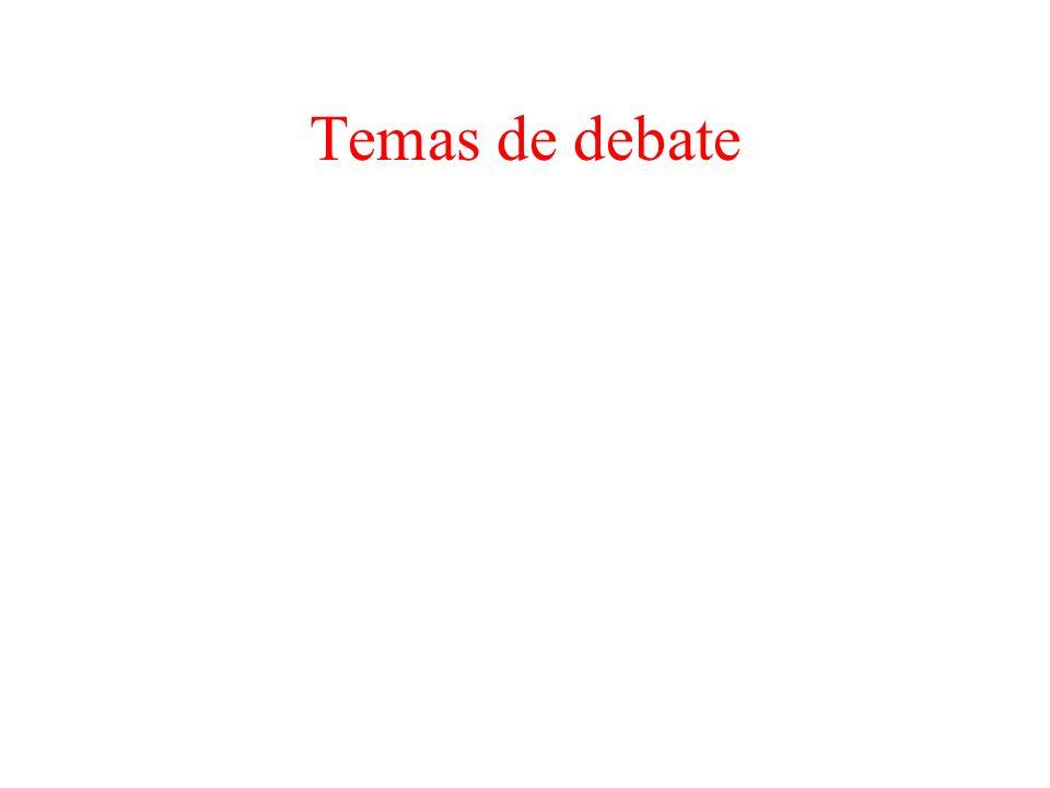 Temas de debate