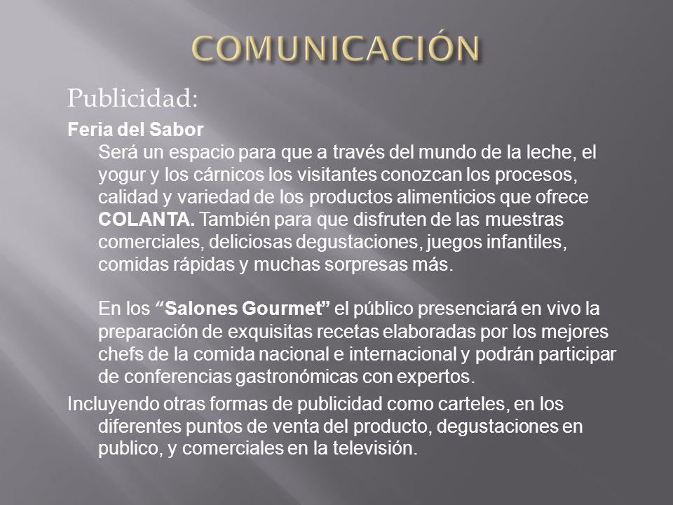 COMUNICACIÓN Publicidad: