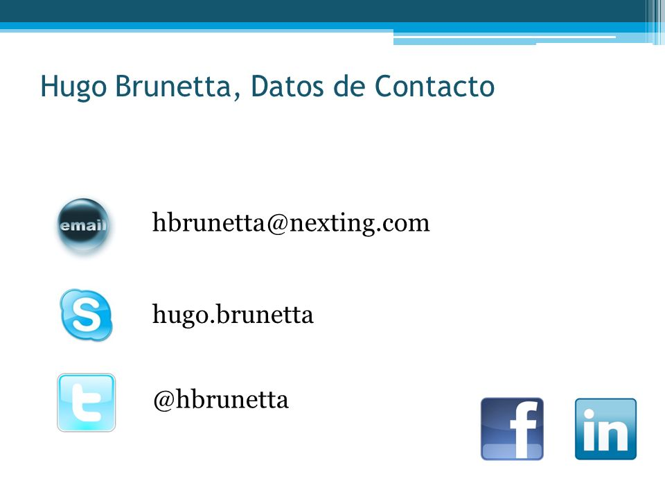 Hugo Brunetta, Datos de Contacto