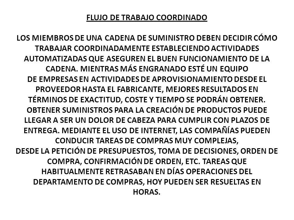 FLUJO DE TRABAJO COORDINADO