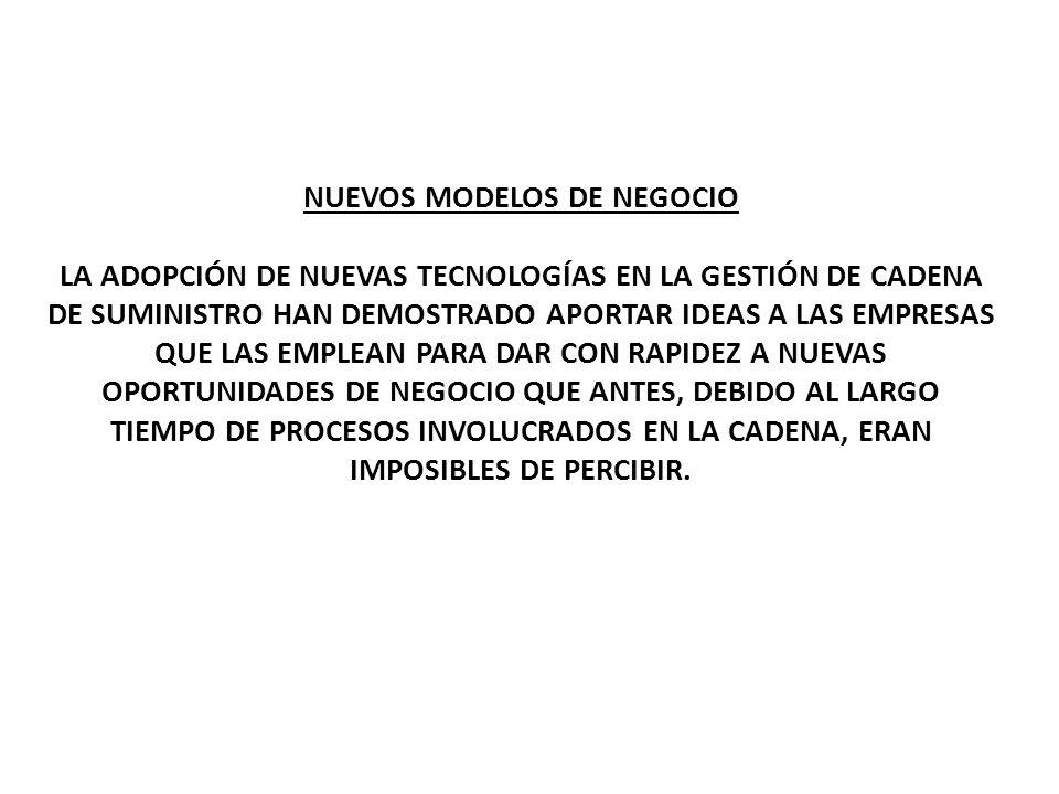 NUEVOS MODELOS DE NEGOCIO