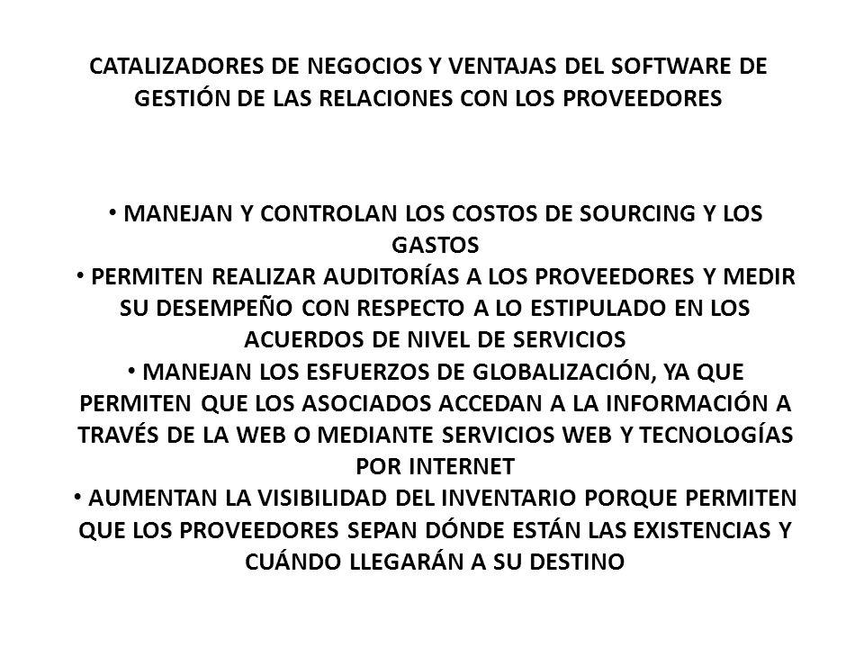 MANEJAN Y CONTROLAN LOS COSTOS DE SOURCING Y LOS GASTOS