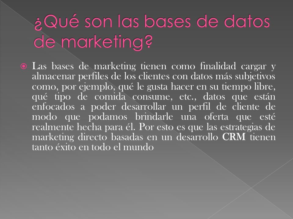 ¿Qué son las bases de datos de marketing