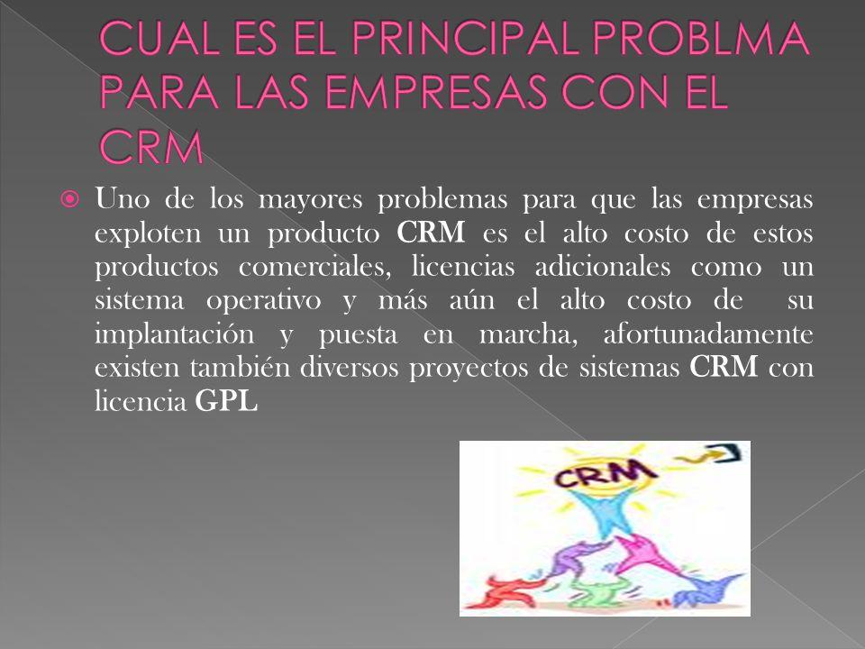 CUAL ES EL PRINCIPAL PROBLMA PARA LAS EMPRESAS CON EL CRM