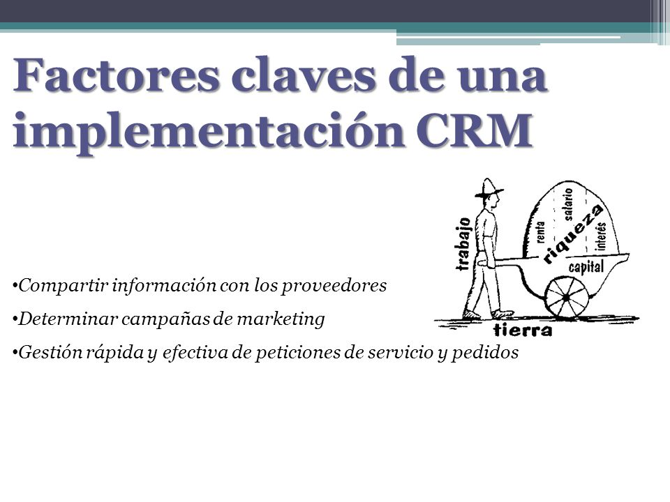 Factores claves de una implementación CRM