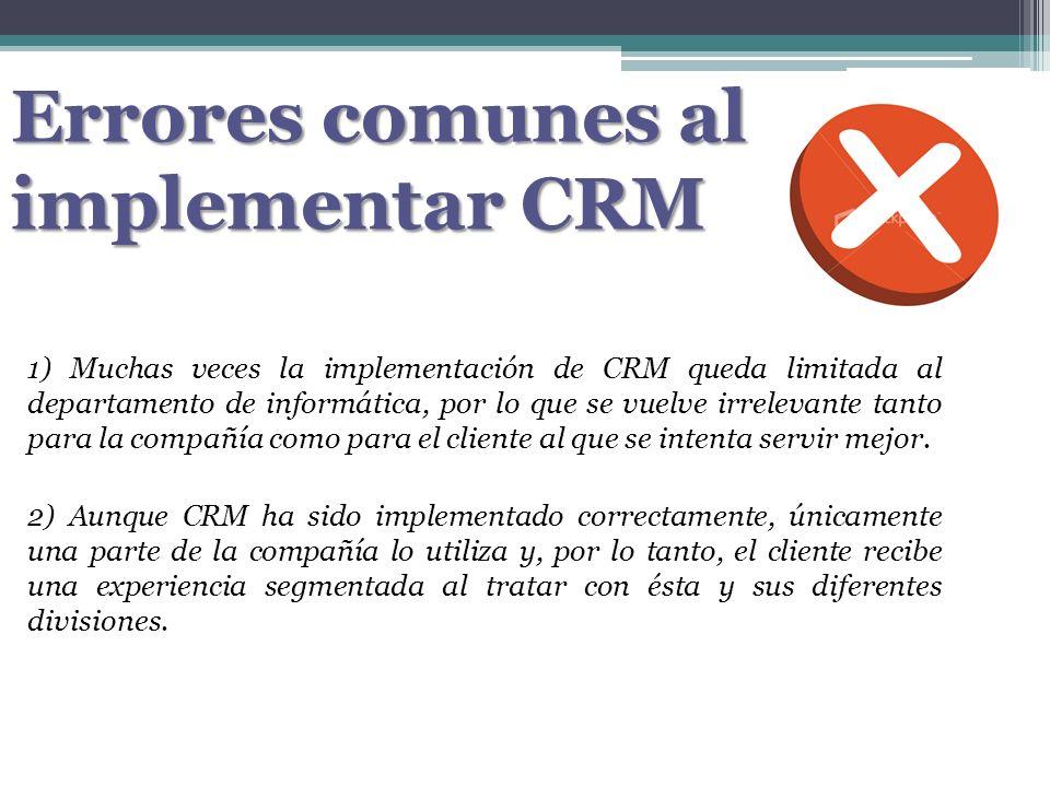 Errores comunes al implementar CRM