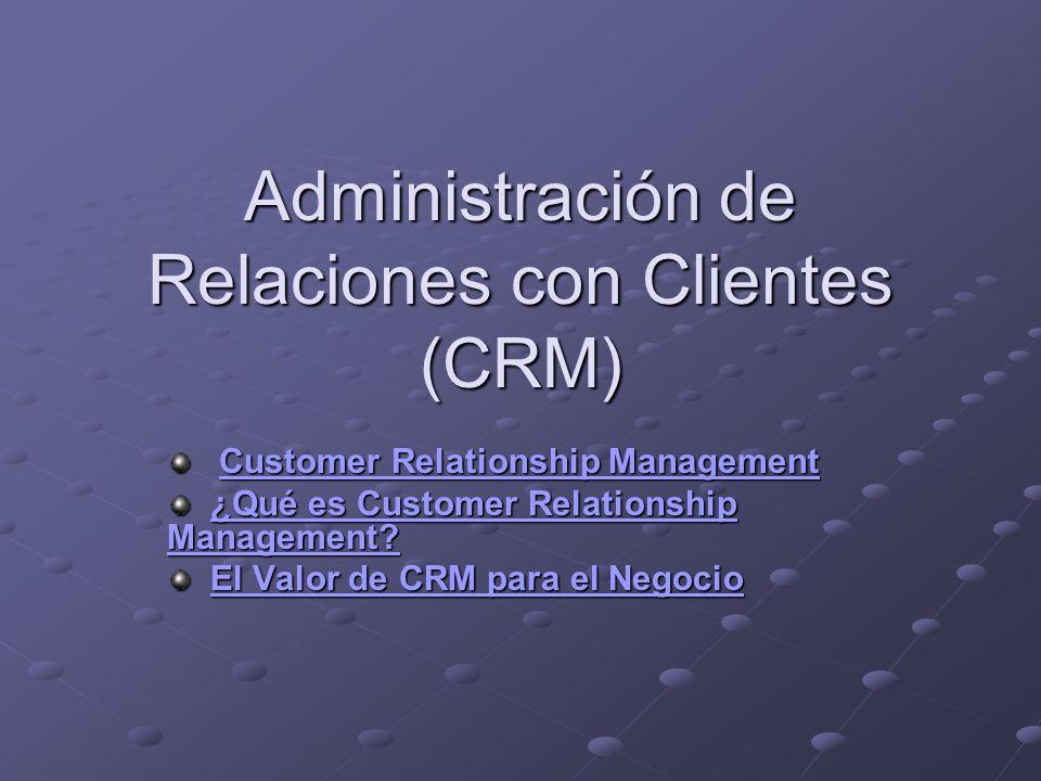 Administración de Relaciones con Clientes (CRM)