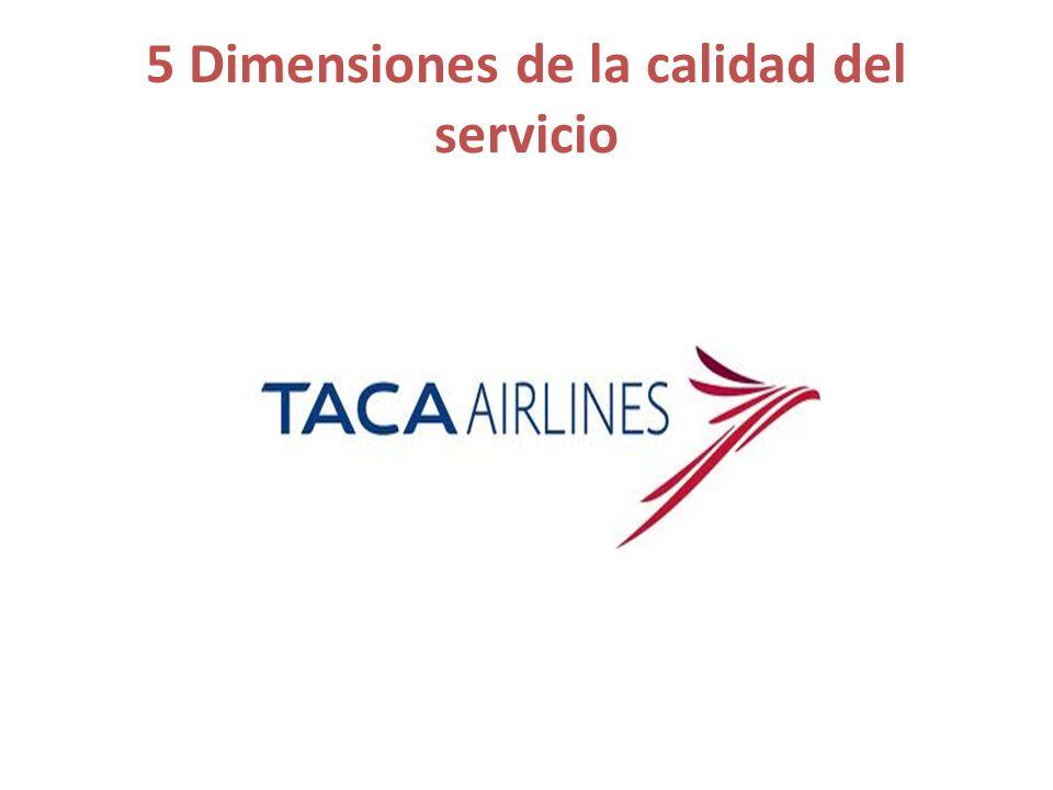 5 Dimensiones de la calidad del servicio