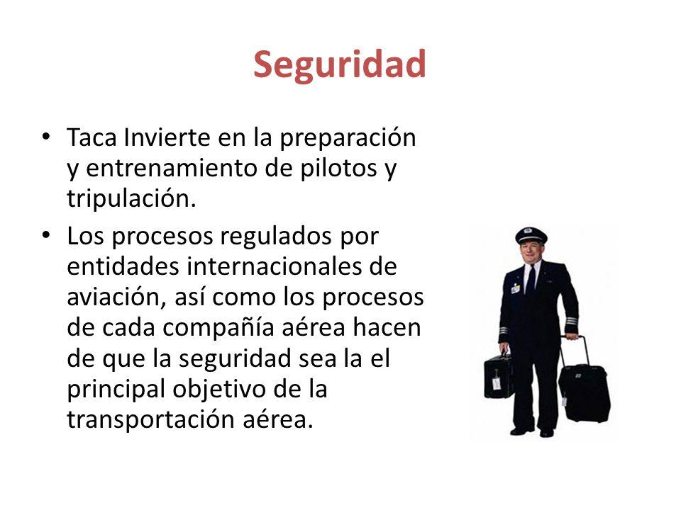 Seguridad Taca Invierte en la preparación y entrenamiento de pilotos y tripulación.
