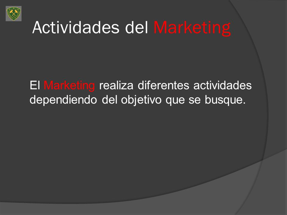 Actividades del Marketing