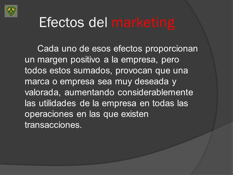Efectos del marketing