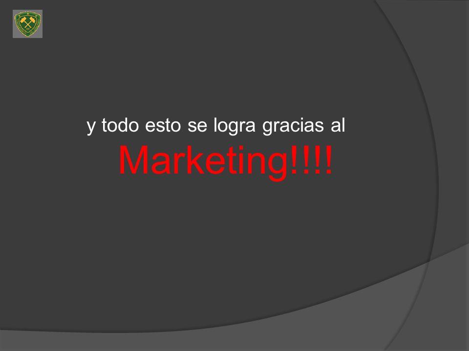 y todo esto se logra gracias al Marketing!!!!