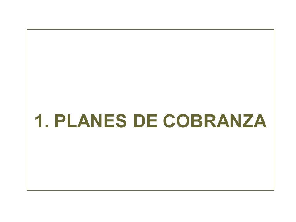 1. PLANES DE COBRANZA