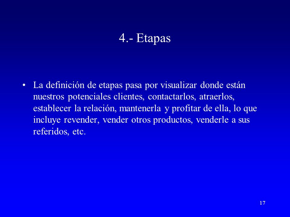 4.- Etapas
