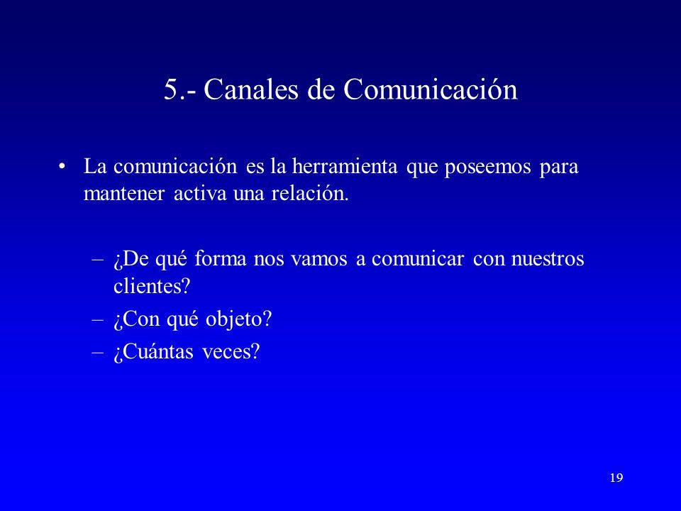 5.- Canales de Comunicación