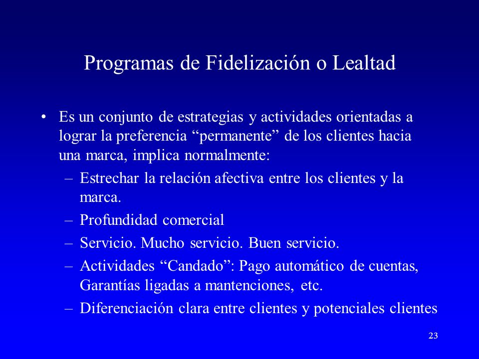 Programas de Fidelización o Lealtad
