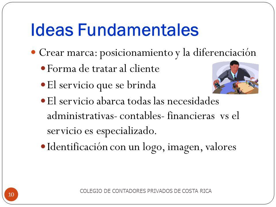Ideas Fundamentales Crear marca: posicionamiento y la diferenciación