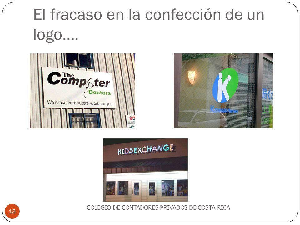 El fracaso en la confección de un logo….