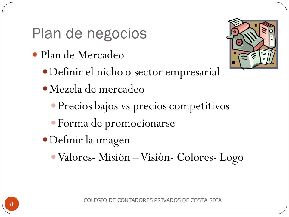 Plan de negocios Plan de Mercadeo