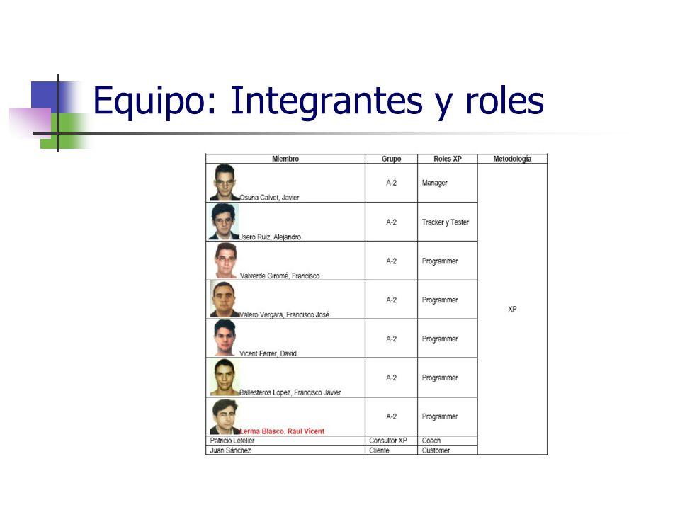 Equipo: Integrantes y roles