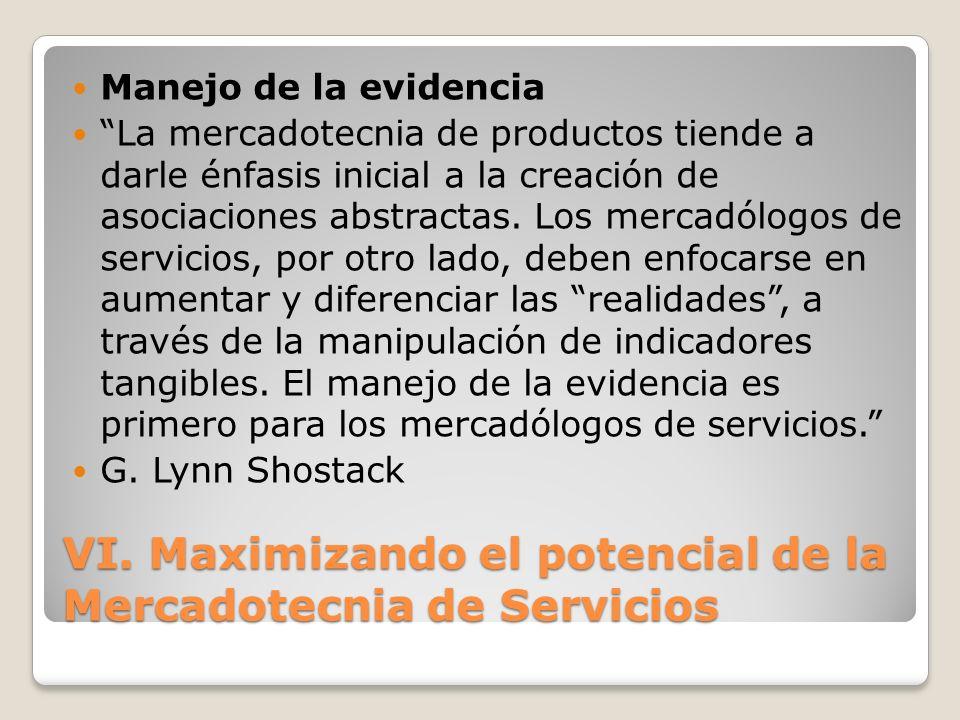 VI. Maximizando el potencial de la Mercadotecnia de Servicios