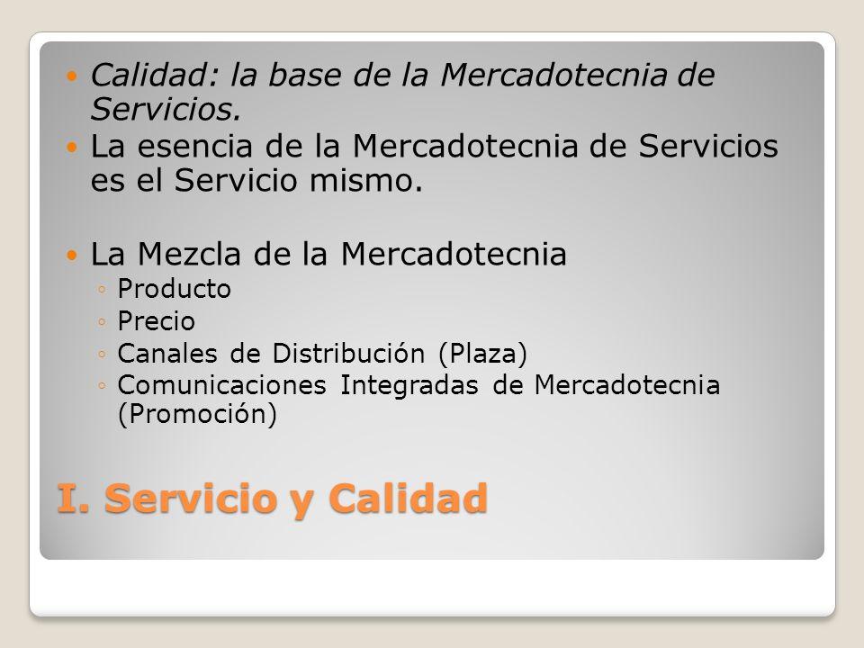 Calidad: la base de la Mercadotecnia de Servicios.